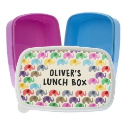 Patchwork Elephants Lunch Box