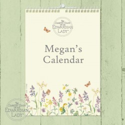 Personalised Country Diary Flower of the Month A4 Wall Calendar