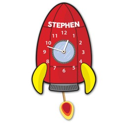 Personalised Rocket Ship Wall Clock
