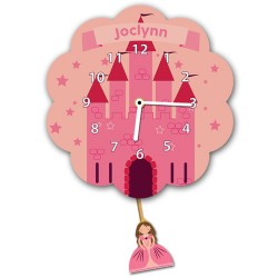 Princess Castle Pendulum Wall Clock