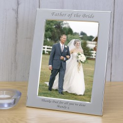 Silver Plated Frame Father of the Bride 7x5