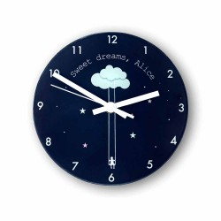 Sweet Dreams Little One Personalised Wall Clock