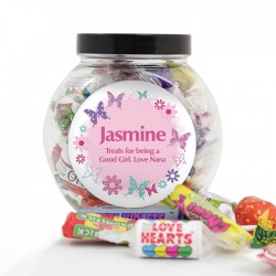 Butterfly Sweets Jar Personalised