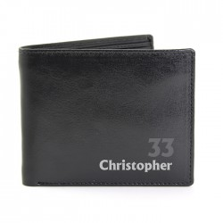 Personalised Birthday Leather Wallet