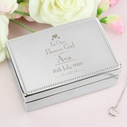 Personalised Decorative Wedding Flower Girl Jewellery Box