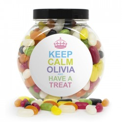 Personalised Keep Calm Jelly Beans Sweet Jar