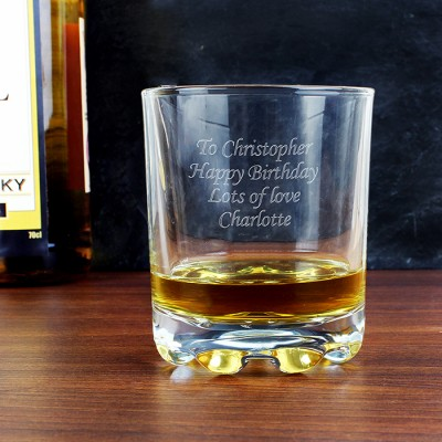 Personalised Stern Whisky Tumbler