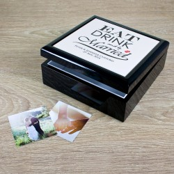 Eat Drink and be Married Couple Keepsake Box