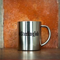 Hashtag Open Personalisation Silver Outdoor Mug