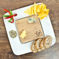 Mr & Mrs Bamboo Square Serving Platter