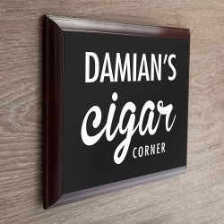 Personalised Classic Cigar Corner Plaque