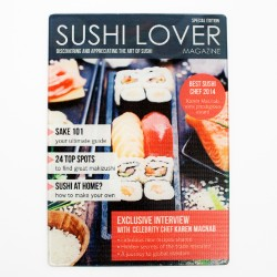 Sushi Lover Magazine Personalised Glass Chopping Board