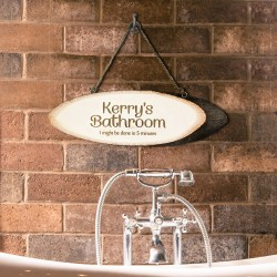 Your Bathroom Wooden Sign
