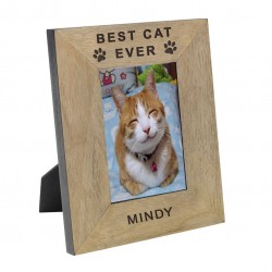 Best Cat Ever Wood Frame 6x4