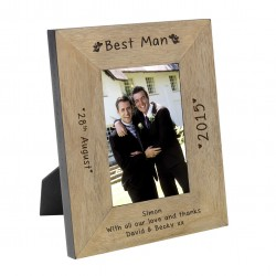 Best Man Wood Frame 6x4
