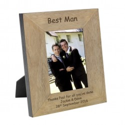 Best Man Wood Photo Frame 6x4