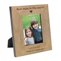 Best Mum in the World Wood Photo Frame 7x5