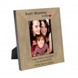 Best Mummy Ever Wood Photo Frame 6x4