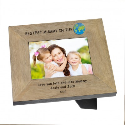 Bestest Mummy in the ..Wood Frame 7x5