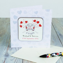 Coaster Card - Just Married