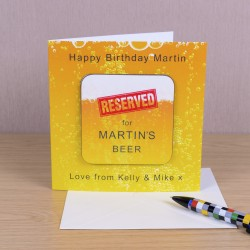 Coaster Card - Reserved