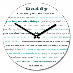 Daddy I love you's Wall Clock