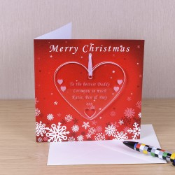 Greeting Card with Heart Decoration
