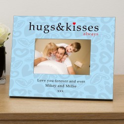 Hugs & Kisses personalised photo frame