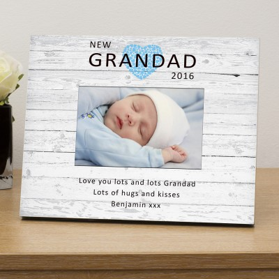 New Grandad personalised photo frame