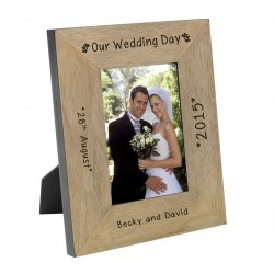 Our Wedding Day Frame 6x4