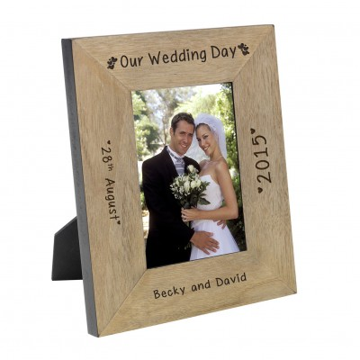 Our Wedding Day Frame 7x5