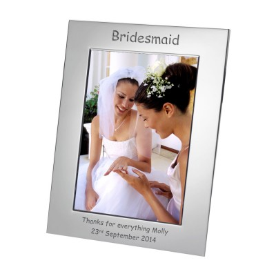 Silver Plated Frame Bridesmaid 7x5
