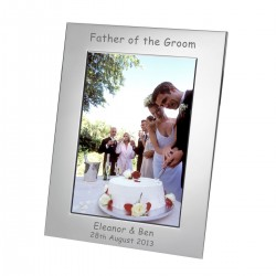 Silver Plated Frame Father of the Groom 7x5