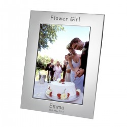 Silver Plated Frame Flower Girl 7x5