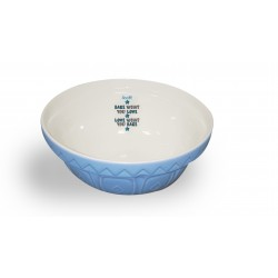 Bake What You Love Blue Mixing Bowl
