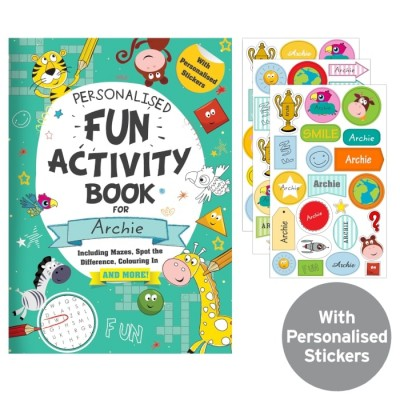 Activity Book with Stickers Personalised