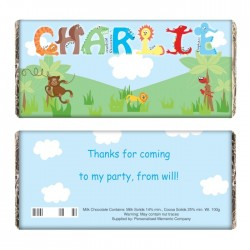 Animal Personalised Milk Chocolate Bar