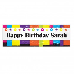 Banner Rainbow Personalised