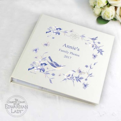 Country Diary Blue Blossom Album with Sleeves Personalised