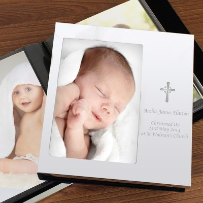 Cross Photo Frame Album 6x4 Personalised