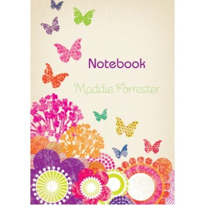 Flowers and Butterflies Notebook