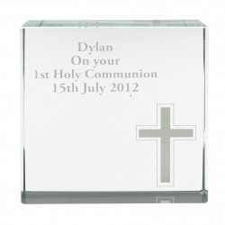 Large Cross Crystal Token Personalised