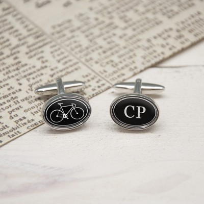 My Bicycle Personalised Cufflinks