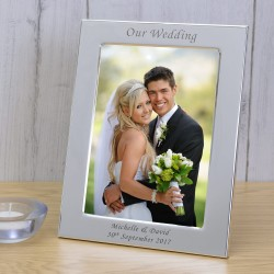 Our Wedding Silver Plated Frame