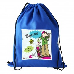 Personalised Bang On The Door Boys Swim & Kit Bag
