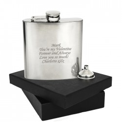 Personalised Boxed Stainless Steel Hip Flask