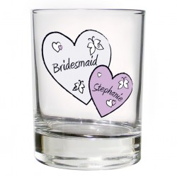 Personalised Butterfly Hearts Juice Glass