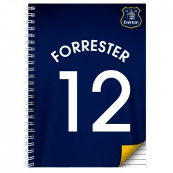 Personalised Everton A5 Notebook
