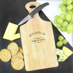 Personalised Kitchen Of Large Paddle Chopping Board