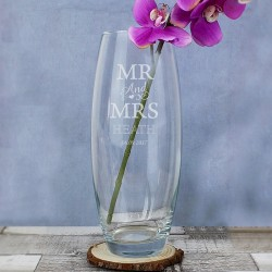 Personalised Mr & Mrs Vase